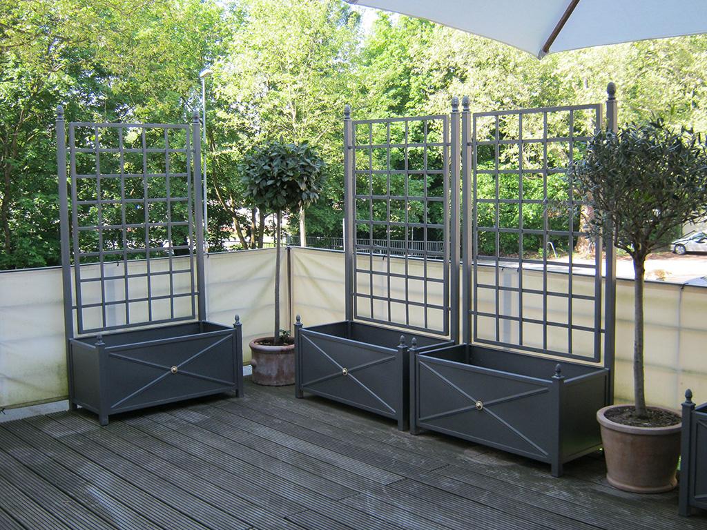 pflanzengef e rankgitter ferrum. Black Bedroom Furniture Sets. Home Design Ideas